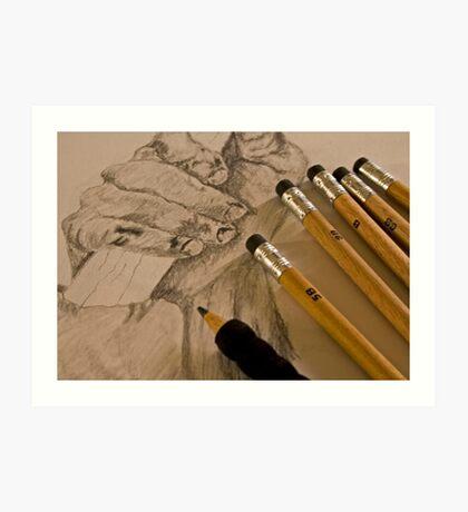 Pencil Sketching Art Print