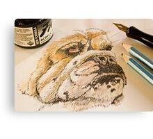 Watercolour Pencil Canvas Print
