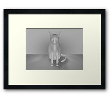 cat pose Framed Print