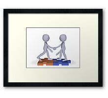 employment contract Framed Print