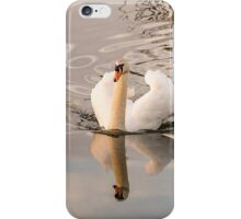 Reflection of a White Swan  iPhone Case/Skin