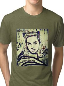 batgirl was a librarian Tri-blend T-Shirt