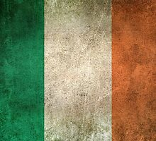 Old and Worn Distressed Vintage Flag of Ireland by Jeff Bartels
