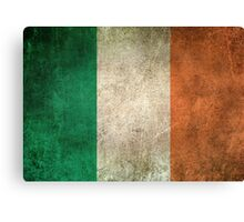 Old and Worn Distressed Vintage Flag of Ireland Canvas Print