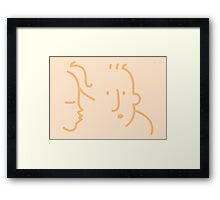 First Kiss?  Framed Print