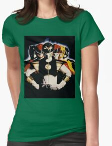 Mighty Morphin Power Rangers 2 Womens Fitted T-Shirt