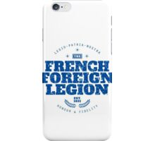 French Foreign Legion - Honour and Fidelity blue iPhone Case/Skin