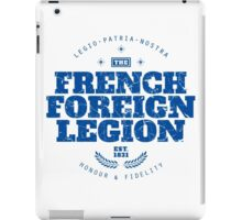 French Foreign Legion - Honour and Fidelity blue iPad Case/Skin