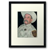 The Old Sheriff (The Long Arm of the Law) Framed Print