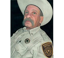 The Old Sheriff (The Long Arm of the Law) Photographic Print