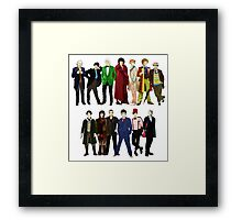 Doctor Who - The 13 Doctors Framed Print
