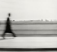 Man Crossing Bridge by laurencedodd