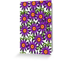 A Field of Purple Flowers Greeting Card