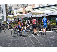 Cyclists in the giro de Italia Photographic Print