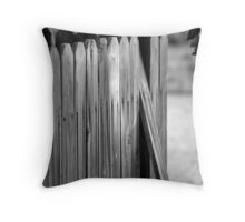 Old Fence Throw Pillow