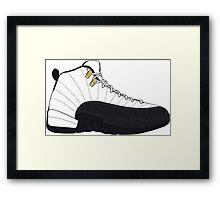 "Air Jordan XII (12) ""Taxi"" Framed Print"