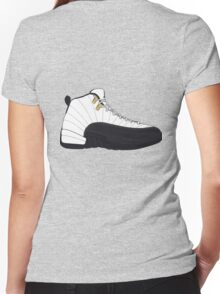 "Air Jordan XII (12) ""Taxi"" Women's Fitted V-Neck T-Shirt"
