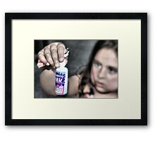 Disappearing Ink Framed Print
