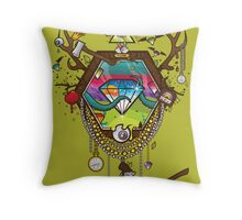These Diamond Days of Oblivion Throw Pillow