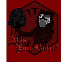 Alas, Poor Vader! (w/ text) Photographic Print