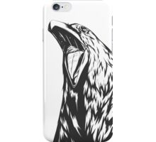Screaming crow iPhone Case/Skin