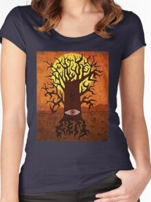 All-seeing Tree Women's Fitted Scoop T-Shirt