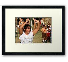 Aerobics in Ubud, Bali Framed Print