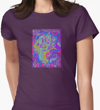 Backwards Down the Number Line - Design 3 Womens Fitted T-Shirt