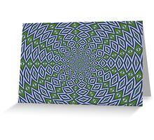 Eternity in Sap Green and Lilac Greeting Card