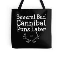 Bad Cannibal Puns Tote Bag