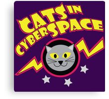 Cats in Cyberspace Canvas Print
