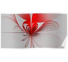 Billowing Ribbon Heart Poster
