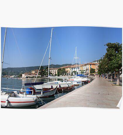 The lakeside promenade of Salò  Poster