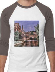 Victoria Art Gallery and Palladian Pulteney Bridge  Men's Baseball ¾ T-Shirt