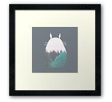 Square Dreamland Totoro Framed Print