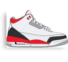 "Air Jordan III (3) ""Fire Red"" Canvas Print"