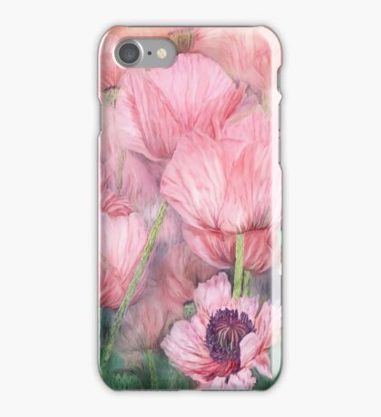 Dragonfly On Peach Poppies iPhone Case/Skin