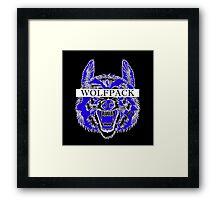 WOLFPACK ATTACK (BLACK) PHI BETA SIGMA - EA Framed Print