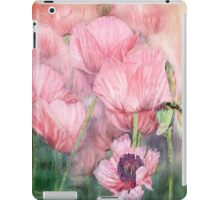 Dragonfly On Peach Poppies iPad Case/Skin