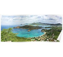 English Harbour from Shirley Heights Poster