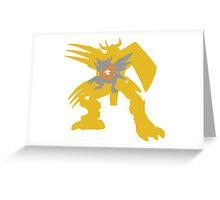 Digimon Agumon warp digivolve to WarGreymon Greeting Card