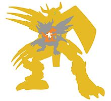 Digimon Agumon warp digivolve to WarGreymon Photographic Print