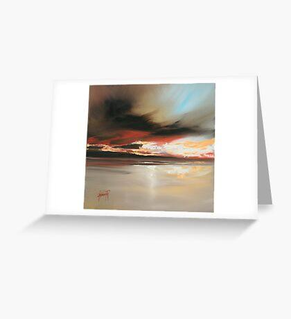 Wet Sand Study Greeting Card