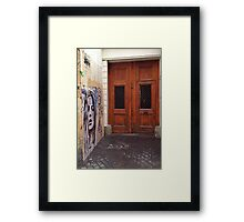 Parisian Graffiti Door Way Framed Print