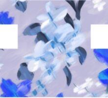Floral Invasion - Blue Sticker