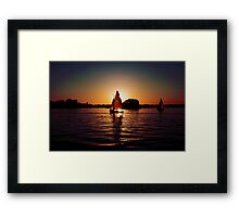 Sailing Silhouettes Framed Print