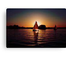 Sailing Silhouettes Canvas Print