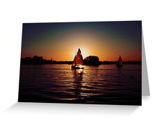 Sailing Silhouettes Greeting Card