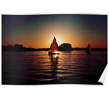 Sailing Silhouettes Poster