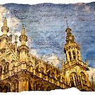 Grand Place Brussels Forgotten Postcard by Alison Cornford-Matheson